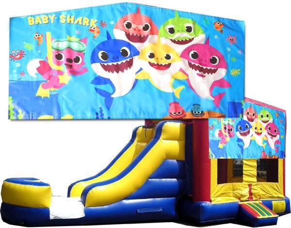 (C) Baby Shark Bounce Slide combo (Wet or Dry)