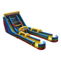 (C) 24ft Vertical Rush Dual Lane Slip n Dip Slide