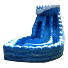 (D) 24ft Dual Lane Tower of Terror Wave Wet-Dry Slide