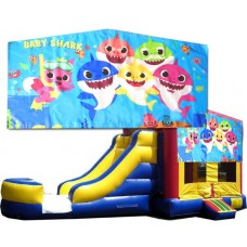 (C) Baby Shark Bounce Slide combo (Wet or Dry)