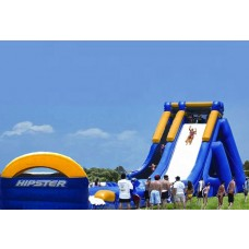 (D1) 25ft Giant Hipster Water Slide