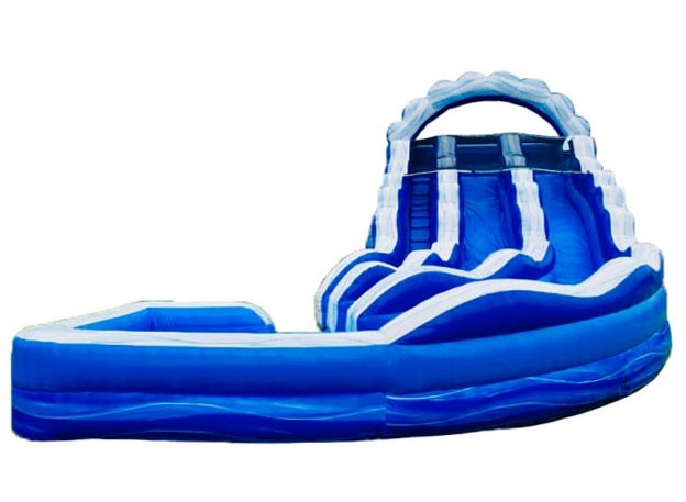 (D) 22ft Double Lane Wave Curved Wet/Dry Slide