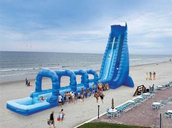 (D) 42ft Dual Lane Blue Crush Water Slide