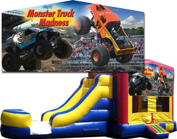 (C) Monster Truck Banner Bounce Slide combo