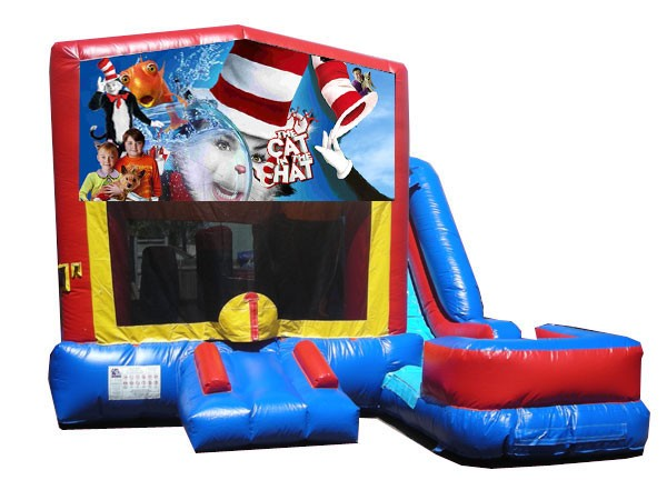(C) Cat in the hat 7n1 Bounce Slide combo (Wet or Dry)