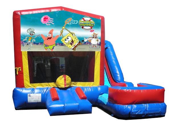 (C) Sponge Bob 7N1 Bounce Slide combo (Wet or Dry)