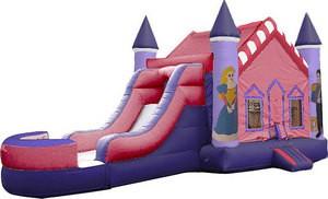 (B)  Princess Castle Bounce Slide combo (Wet or Dry)