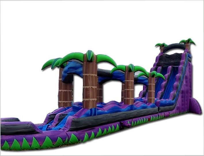 (D) 27ft Royal Purple Tropical Water Slide