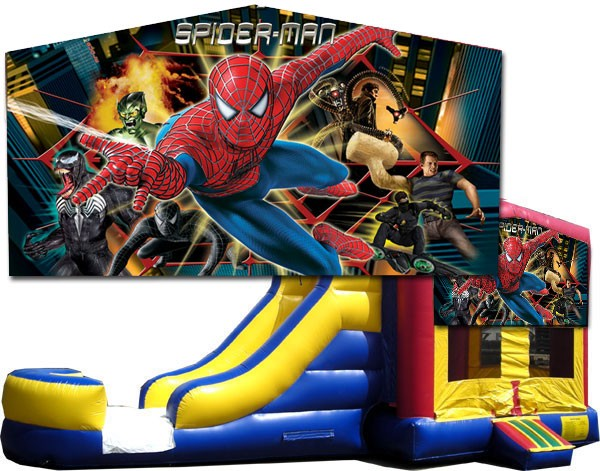 (C) Spider-Man Bounce Slide combo (Wet or Dry)