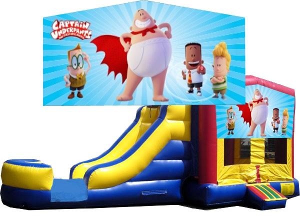 (C) Captain Underpants Bounce Slide combo (Wet or Dry)