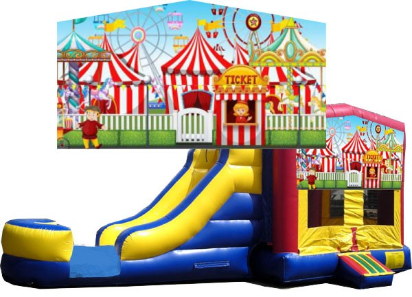 (C) Carnival Bounce Slide combo (Wet or Dry)