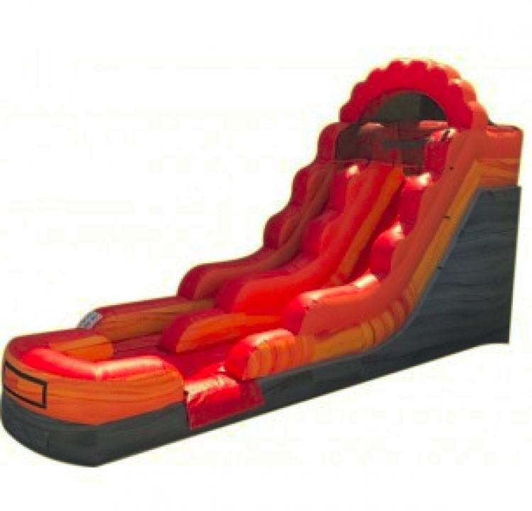 (A) 14ft Volcano Fire Marble Wet/Dry Slide