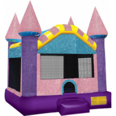 (B) Dazzling Princess Castle Moonwalk Large