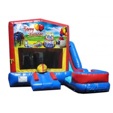 (C) Happy Birthday 7N1 Bounce Slide combo (Wet or Dry)
