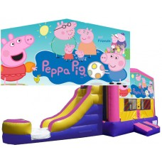 (C) Peppa Pig Bounce Slide combo (Wet or Dry)